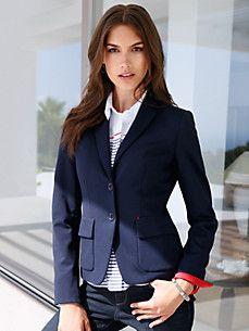 Navy Jersey Blazer Womens
