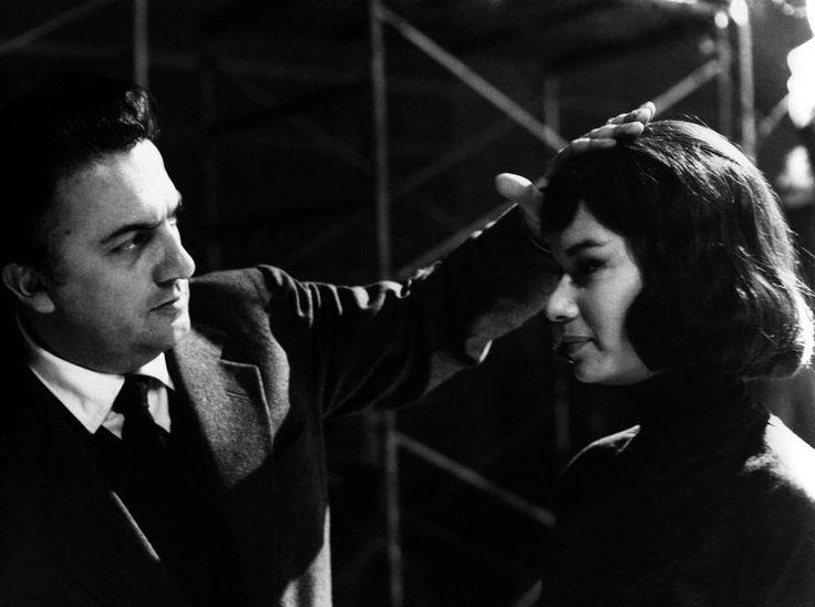 Federico Fellini and Lea Massari