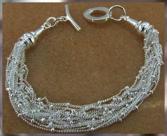 925 Sterling Silver Bracelet - Elegant , Gorgeous silver jewelry ,silver necklace  silver chains,silver bracelets