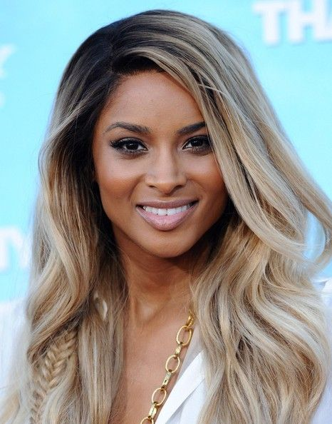Ciara's ash blonde hue..love the fishtail braid.