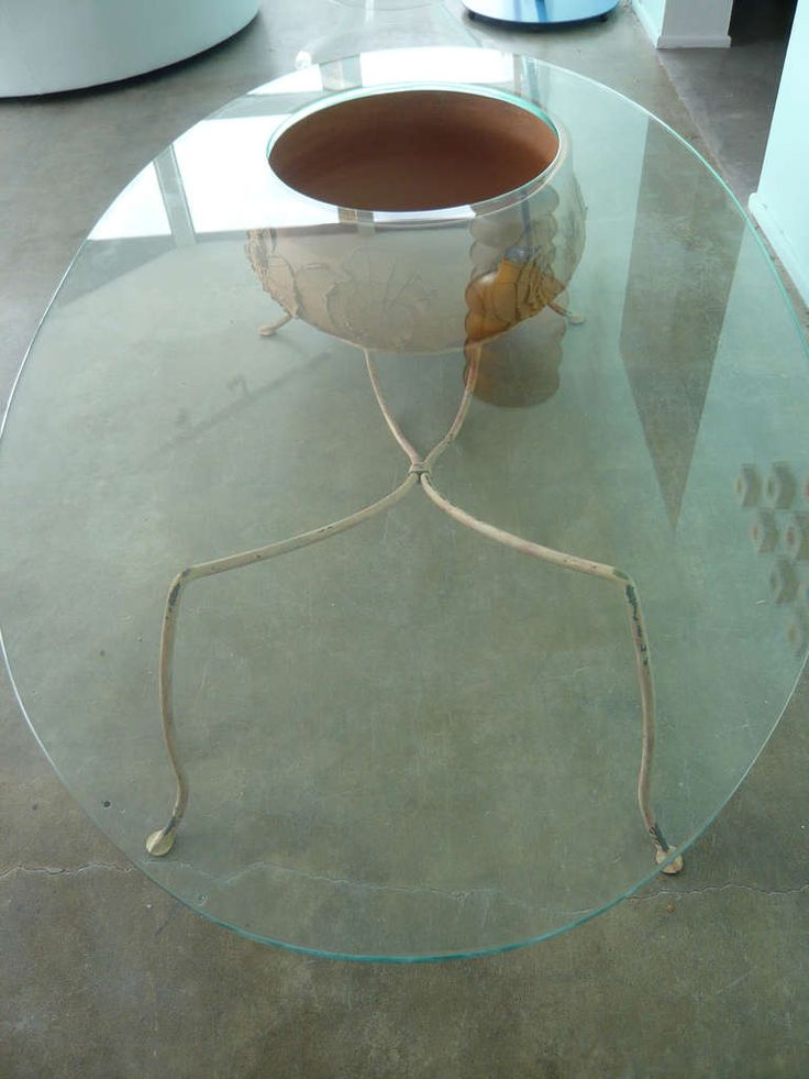 Unusual Coffee Table With Architectural Pottery By David Cressey