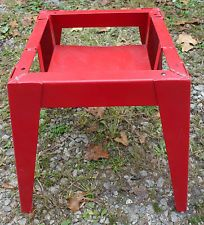 Red Heavy Duty Metal Wash Tub Ice Down Bin Stand Coca Cola