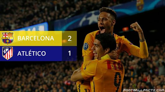 Barcelona 2 - 1 Atletico Madrid, Champions League 05/04/2016