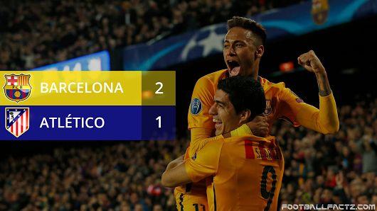 Barcelona 2 - 1 Atletico Madrid, Champions League 05/04/2016