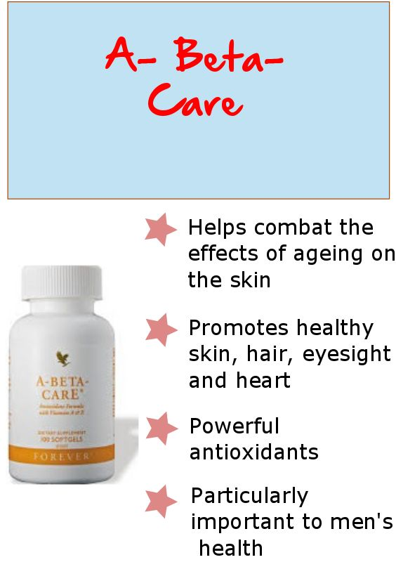 Forever A-Beta-Care is an essential formula with vitamins A and E, plus the antioxidant mineral selenium.
