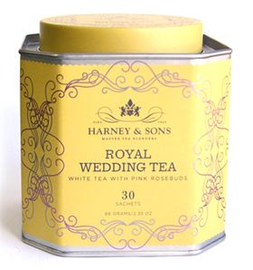 'Royal WeddingTea'  It's quite regal... and delicious!  .....Harney and Sons is an American tea company founded in 1983 in Salisbury, Connecticut and now based in Millerton, New York.