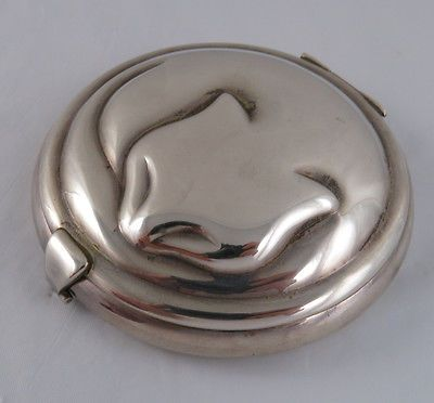 RARE Tiffany & Co. Vintage Sterling Silver Sleeping Cat Compact | eBay