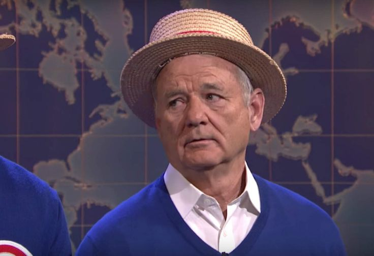 "Bill Murray joins Chicago Cubs to sing ""Go Cubs Go"" on ""Saturday Night Live"""