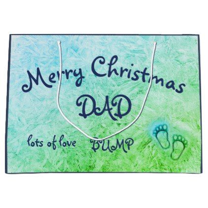 #Merry Christmas Dad from Bump design Large Gift Bag - #Xmas #ChristmasEve Christmas Eve #Christmas #merry #xmas #family #kids #gifts #holidays #Santa