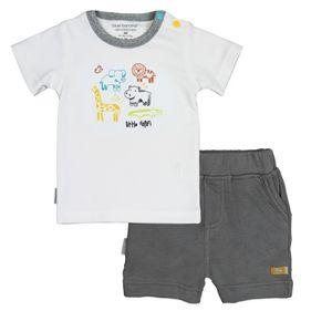 Kushies On Safari T-shirt & Short Set - White