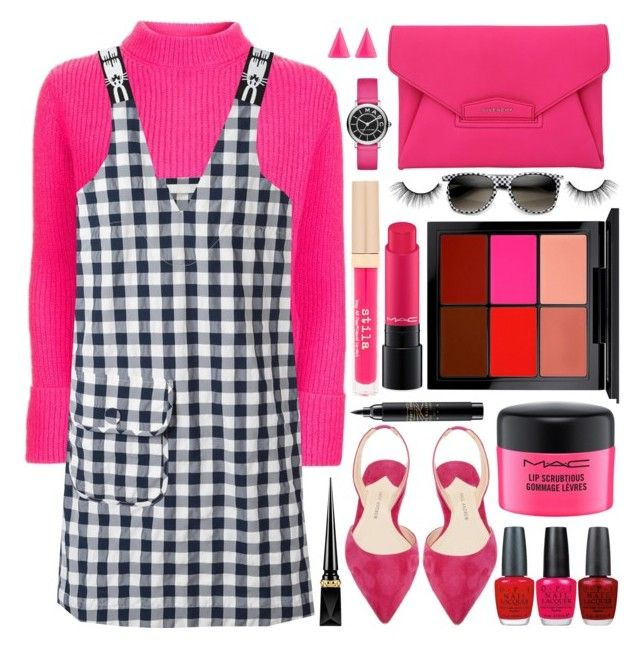 """""""Gingham Dress"""" by shoaleh-nia ❤ liked on Polyvore featuring Topshop, Peter Jensen, MAC Cosmetics, OPI, Paul Andrew, Givenchy, Stila, ZeroUV, Alexis Bittar and tarte"""