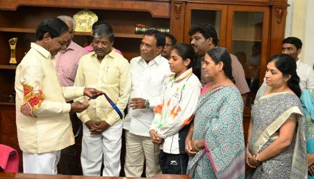 Telangana: CM KCR Announced Cash prize of Rs.2 Crore to Ms Buddha Aruna Reddy who won a Bronze medal at World Gymnastics Tournament in Melbourne in Australia