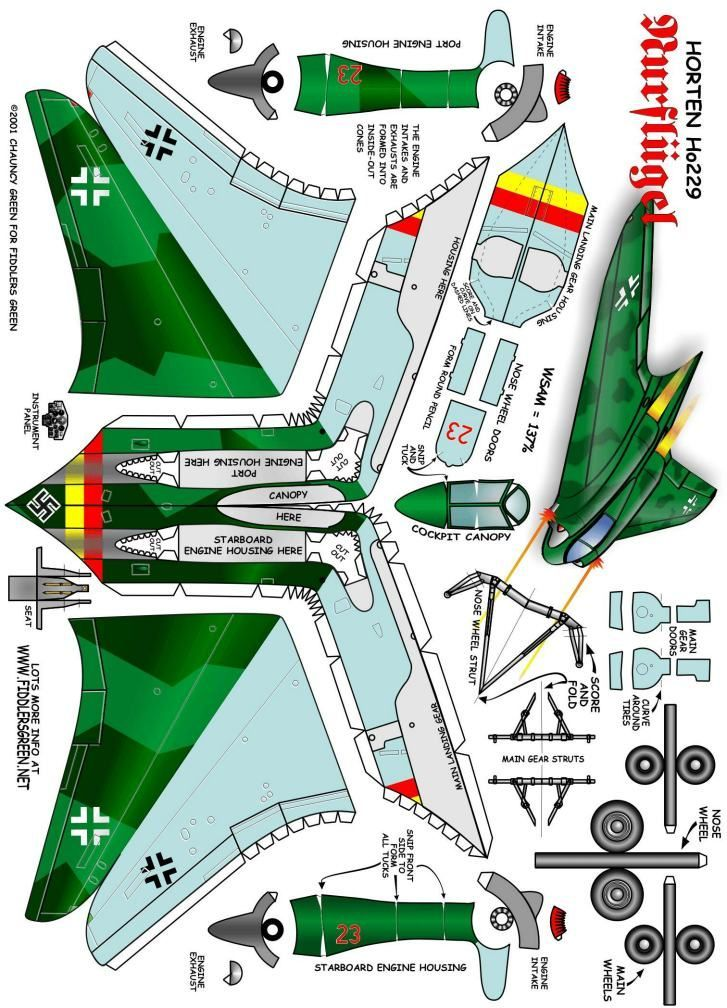 This is a picture of Lively Papercraft Models Airplanes