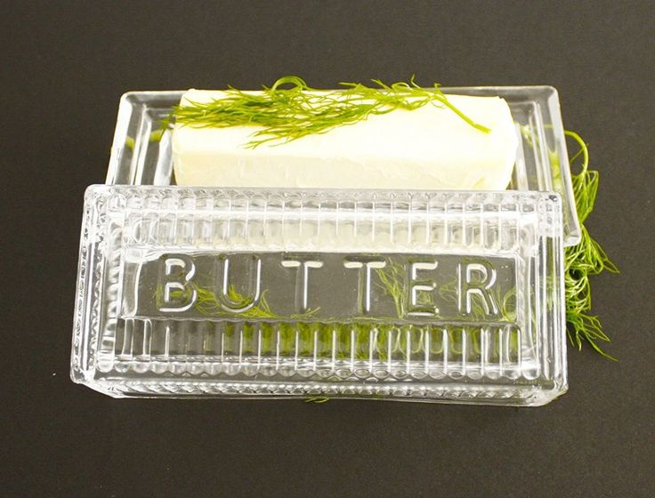 Bezrat Lead-Free Crystal Covered Modern French Butter Dish with Lid #NotApplicable