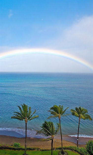 Rainbow in Hawaii! Come and see paradise from the air with Blue Hawaiian Helicopters! www.bluehawaiian.com