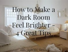 These ideas and tips will help to lighten and brighten a dark room or basement. Learn how to make any room feel more bright and lively using these great ideas