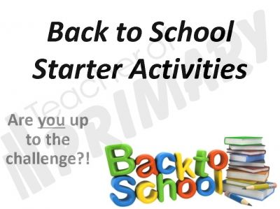 Back to School English Starter Activities - PowerPoint and worksheets #teacher #ks2 #primaryteaching #classroom #activities #starter #lesson #planning #preparation #worksheets #presentation