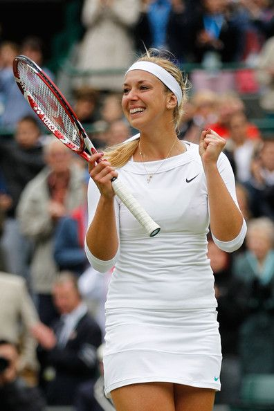 Sabine Lisicki after beating #1 Maria Sharapova at Wimbledon
