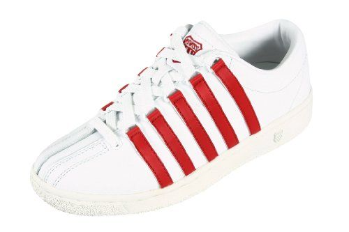 Cool K-Swiss Women's Classic Luxury EDTN White Red Stripes 9001104