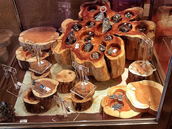 Cedar Jewelry Display  Natural Wood Display for your by Element83, $219.95