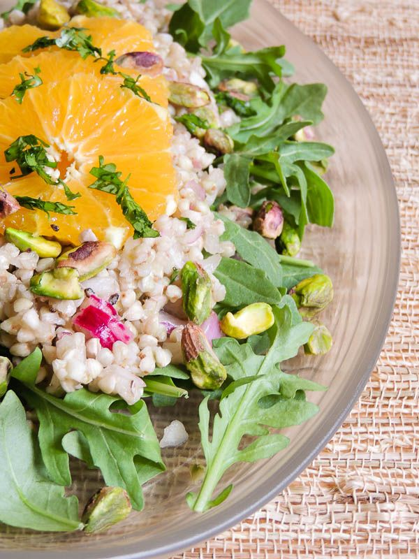 Persian Buckwheat Salad  with Lime-Rosewater Dressing