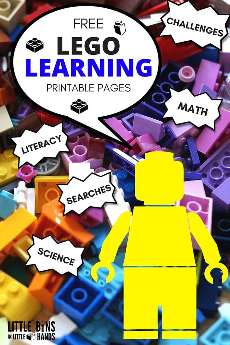 LEGO Learning Pages Free Printables Math Literacy Science Challenges Coloring Sheets-2