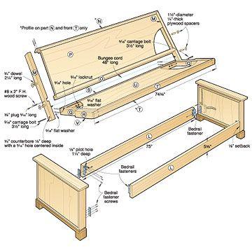 wood futon frame plans
