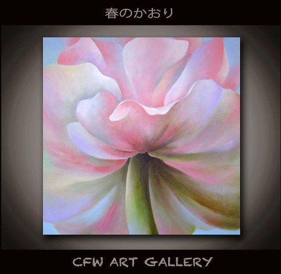 Flower art flower painting oil painting original wall by CFWART, $189.00