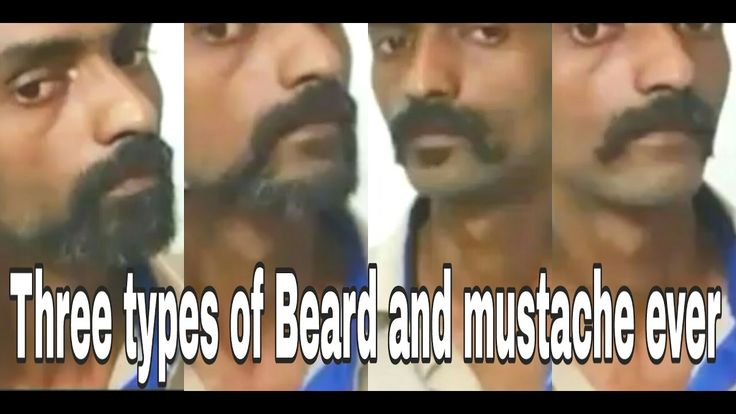 Video on diy three types men's Beard and mustache ever