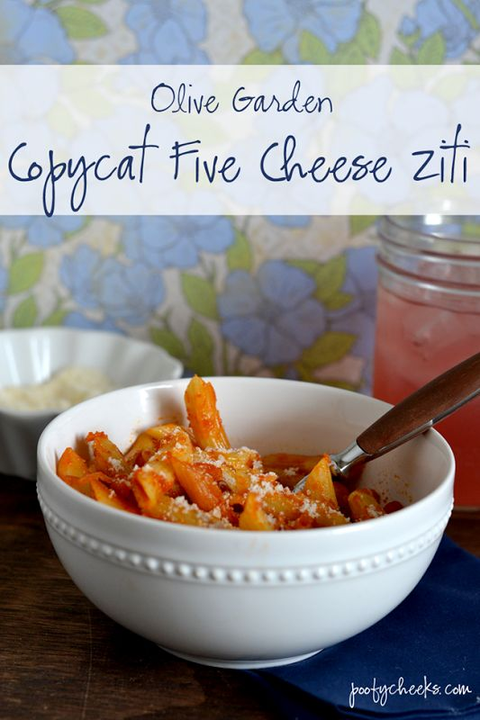 olive garden copycat five cheese ziti recipe gardens we