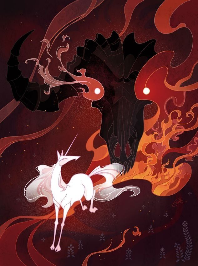 The last unicorn. I want this as a giant poster.