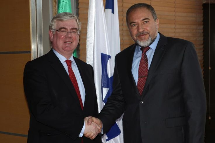 Agreeing to disagree in the spirit of good friendship. This nice photo of the two ministers of Foreign Affairs was taken on  in Jerusalem, during minister's Gilmore to Israel