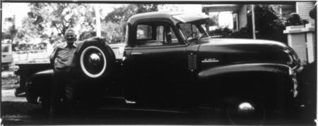 Thaddeus Holownia, series: Headlighting, Olds 88 Guy, Wichita, 1974 - 1977, gelatin silver contact print, 8x20in © Courtesy Corkin Gallery #cars #photography