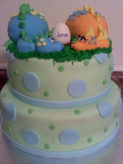 DIno Baby Shower Cake By Jedie on CakeCentral.com