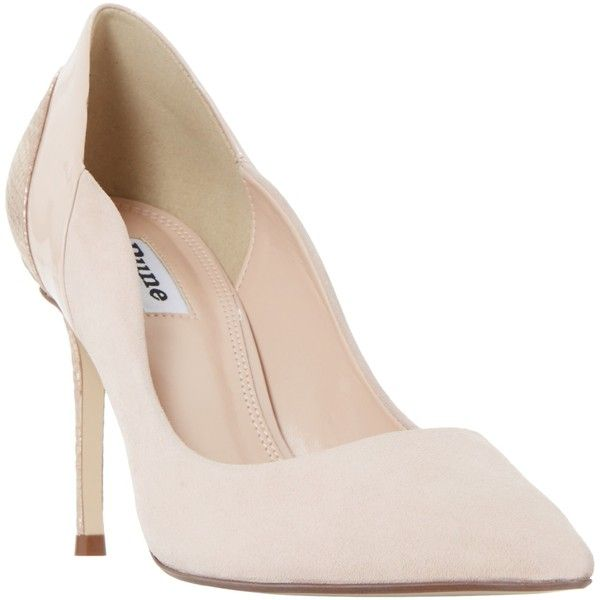 Dune Bayly Stiletto Heeled Court Shoes (€77) ❤ liked on Polyvore featuring shoes, pumps, rose gold, high heel pumps, heel pump, high heeled footwear, high heel stilettos and high heel shoes