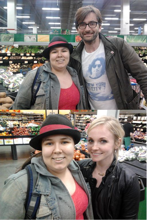 Could you imagine just casually running into David Tennant and his wife  at the grocery. I'd  pee my pants