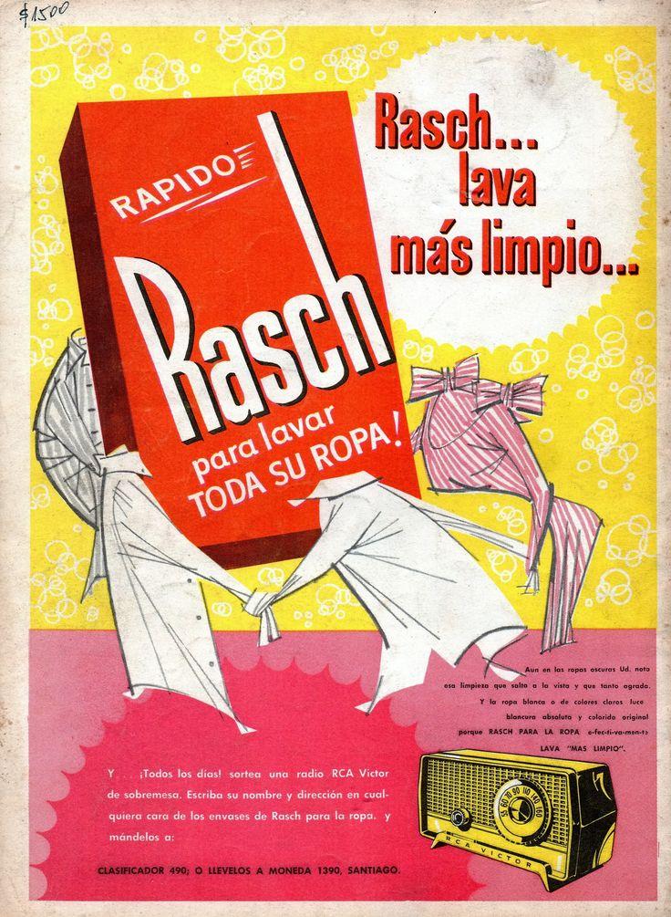 Rash para lavar toda tu ropa! con Jabón Ritz. Productos de Laboratorio Weir Scott. Publicado en Revista ZIG - ZAG N°2867 de marzo de 1960.