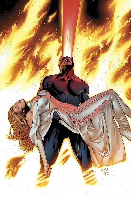 Cyclops and Emma Frost by Greg Land