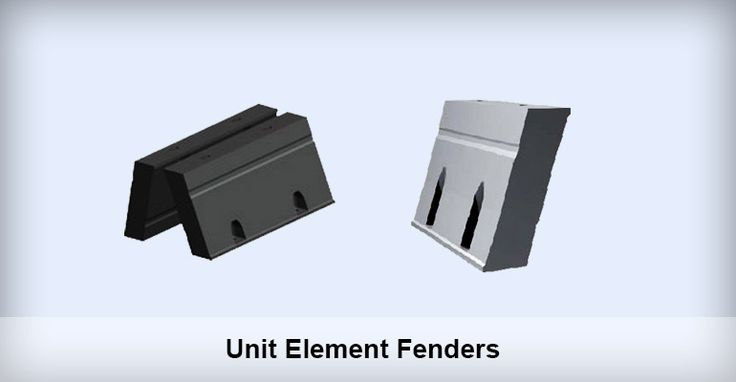 Unit Element Rubber Fenders Application of Unit Element Rubber Fender Unit Element Rubber Fender can be combined in unlimited permutations of length, orientation and Energy Index to suit a wide variety of applications, including:Container Terminals;Tanker Berths;Parallel Motion Fenders;Fender Walls;Small Ship Berths;Ro-Ro & Cruise Berths; Bulk Terminals.