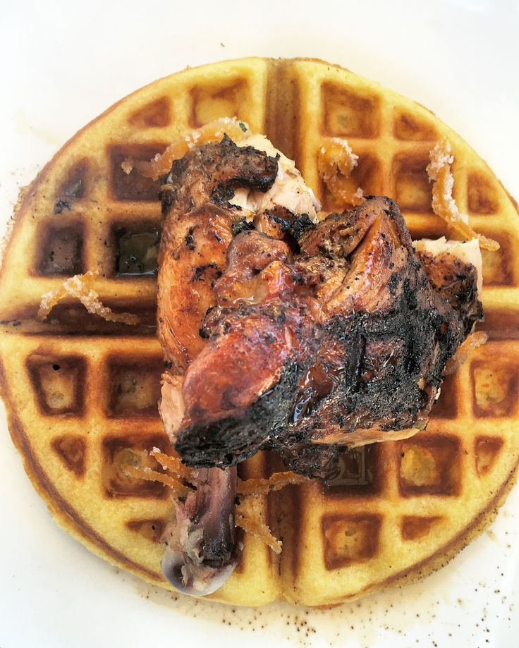 Jerk chicken and waffle from Windup Caribbean, Toronto