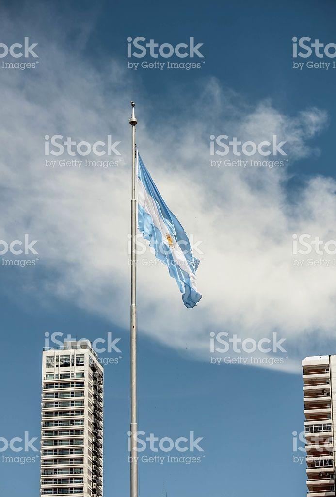 Bandera argentina  foto de stock libre de derechos