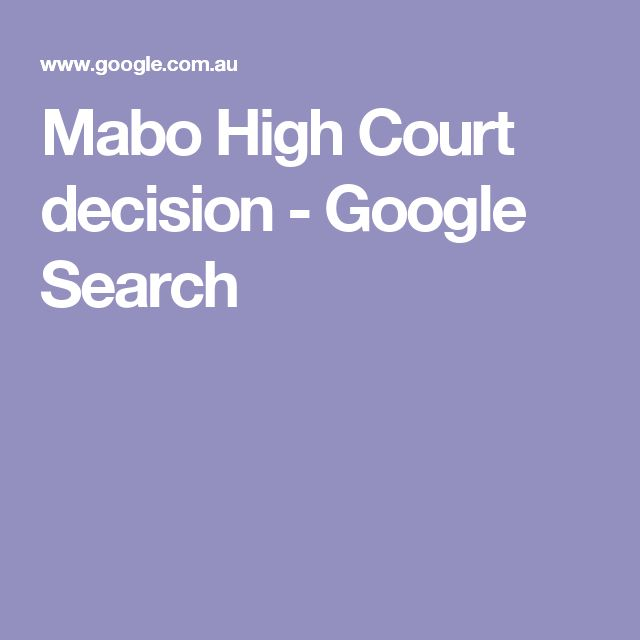 Mabo High Court decision - Google Search