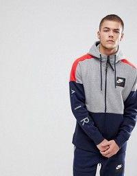 cheap for discount 70e1f 3b752 Nike  Sudadera con media cremallera en gris 861620-091 de Nike Air
