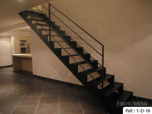 17 best ideas about escalier droit on pinterest rampe en verre limon escal - Rampe escalier cable acier ...