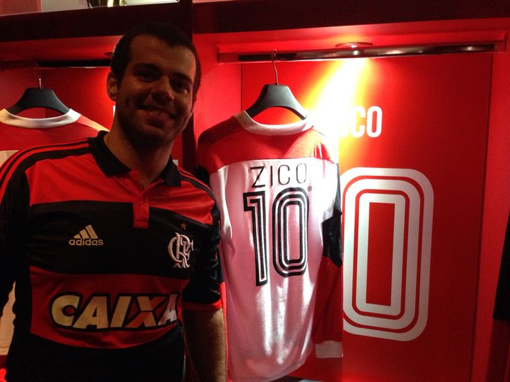 Museu do Flamengo, vestiário do Flamengo na final do mundial Interclubes de 1981. Com a camisa do Zico!