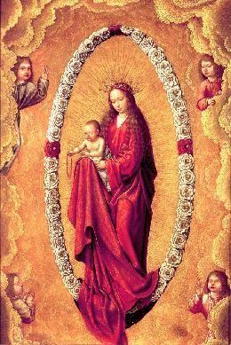 La Virgen del Rosario - Cuadro | Atribuido a and Metsys, Quentin (Lugar de nacimiento: Lovaina, 1465[ca] - Fecha de defunción: 1530) Escuela/Taller: Flamenca