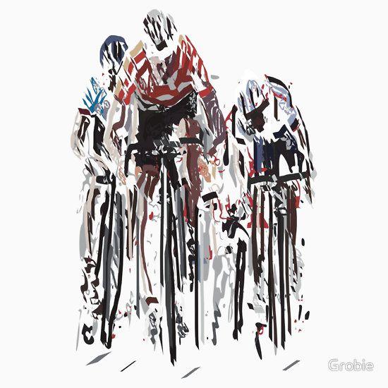 A cluster of bike wankers