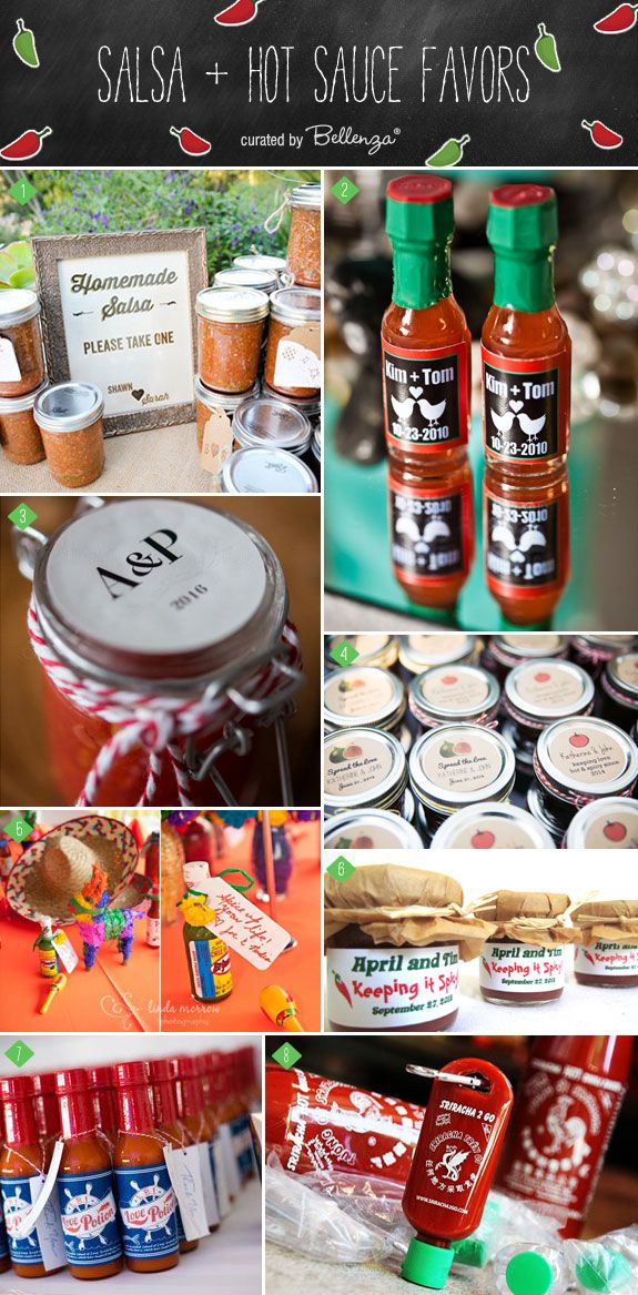 Spice Up Your Wedding with Salsa and Hot Sauce Favors for Your Wedding | as featured on the Wedding Bistro at Bellenza!