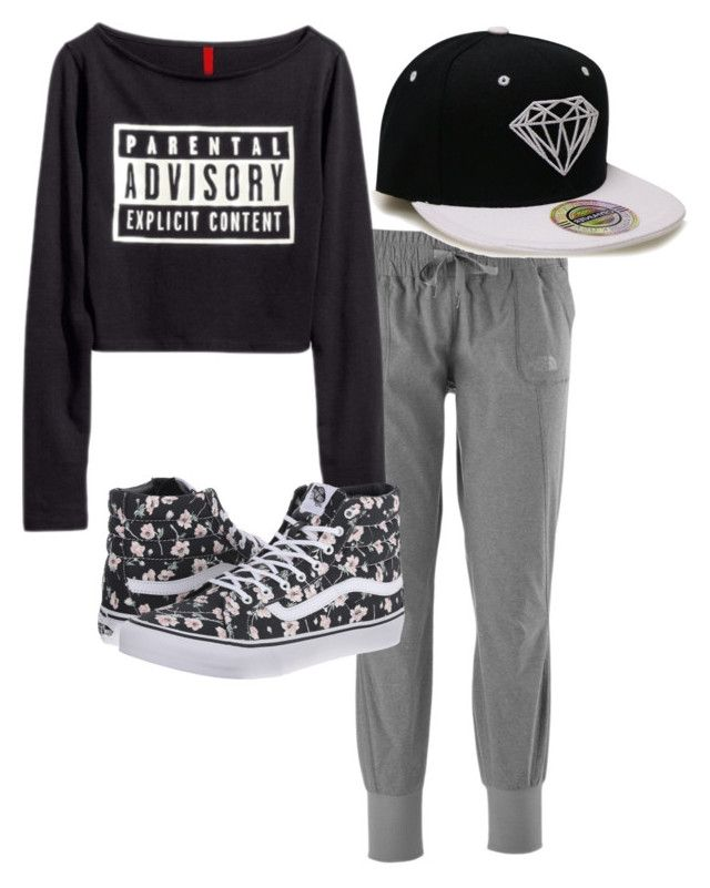 """Hip Hop Class"" by jdizzlesipes on Polyvore featuring The North Face, Vans, women's clothing, women's fashion, women, female, woman, misses and juniors"