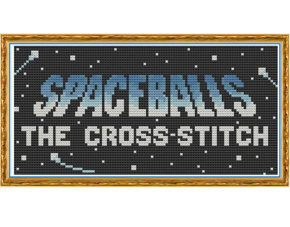 Spaceballs - The Cross Stitch - Counted Cross Stitch Pattern by HornswoggleStore, $5.00 (TV, Movie, Sci-Fi, nerd, geek, funny)